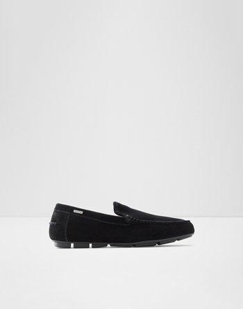 알도 샌들  ALDO Pivarnick Black Mens Loafers & Slip-Ons