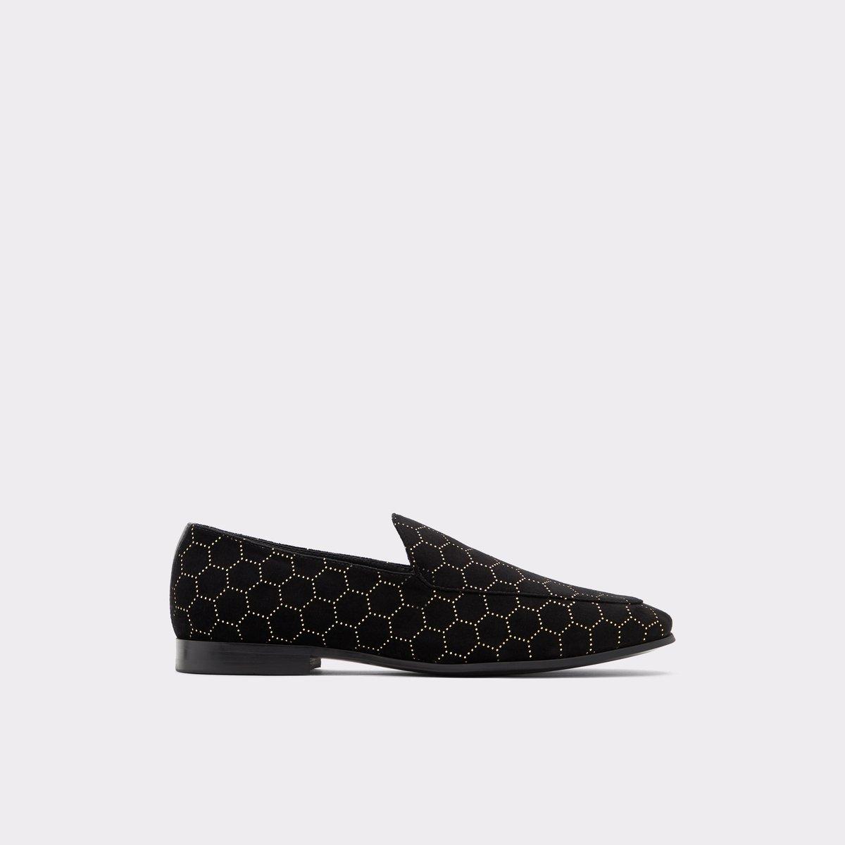 Qirarien Black Textile Men's Loafers