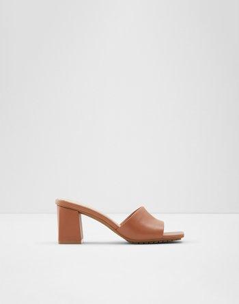 알도 ALDO High heel sandal - Block heel Velalith,Cognac