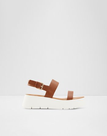 알도 웻지 샌들 ALDO Wedge sandal - Wedge heel Wiwiel,Cognac